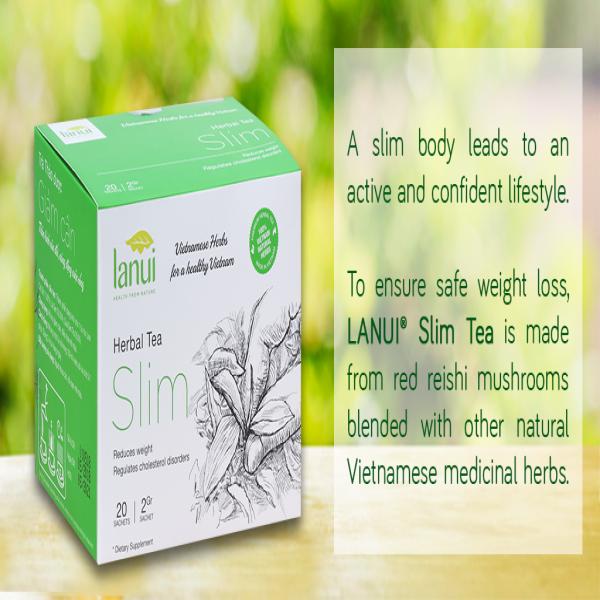 Trà thảo dược giảm Cân hạ mỡ máu LANU  SLIM TEA