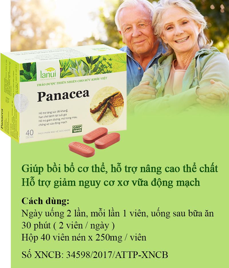 Hỗ trợ nâng cao thể chất với Lanui ® PANACEA